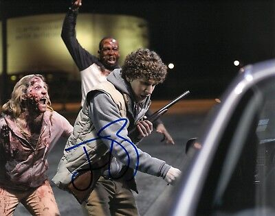 JESSE EISENBERG SIGNED 8x10 PHOTO PROOF COA AUTOGRAPHED ZOMBIELAND 3