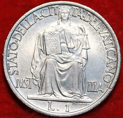 Uncirculated 1942 Vatican City 1 Lira Foreign Coin
