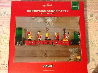2017 Hallmark Peanuts Christmas Dance Party Limited Edition Red Repaint Box Set