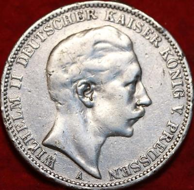 1910 Germany 3 Mark Silver Foreign Coin
