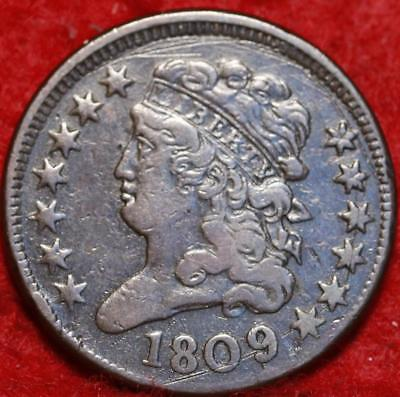 1809 Philadelphia Mint Copper Classic Head Half Cent 13 stars