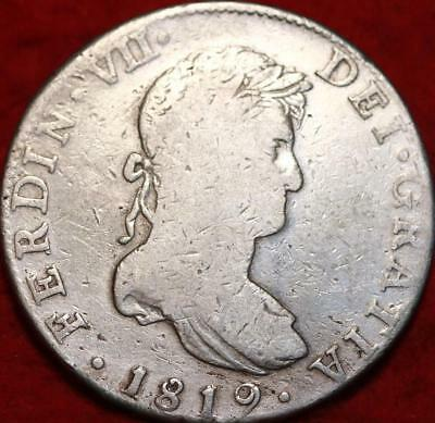 1819 Mexico 8 Reales Silver Foregin Coin
