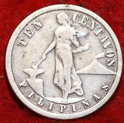 1918-S Philippines 10 Centavos Silver Foreign Coin