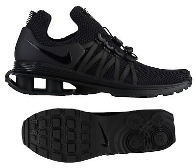 3aa75f936725ef NEW NIKE SHOX Gravity Sneaker Mens triple black sizes 8   8.5 ...