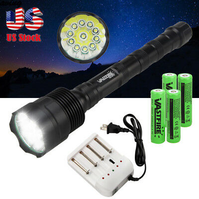 32000LM Military Tactical 11xT6 LED Flashlight 5 Modes Camping Lamp Torch 18650
