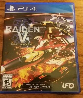 Raiden V: Director's Cut -- Limited Edition with soundtrack for PS4. COMPLETE