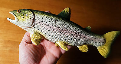 RAINBOW TROUT FISH FIGURINE Fishing Cabin Lake Lodge Fisherman Log Home Decor