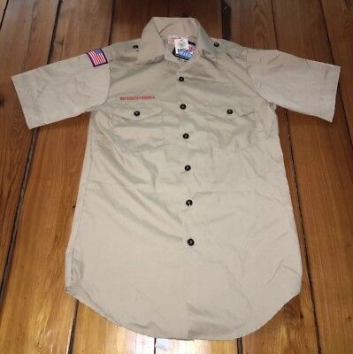Men's Boy Scouts Of America Uniform Shirt Sz Small New BSA Scouting