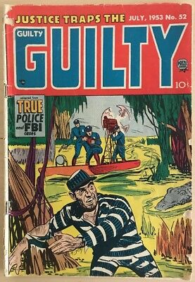 JUSTICE TRAPS THE GUILTY #52 1953 Pre-Code Crime Golden Age