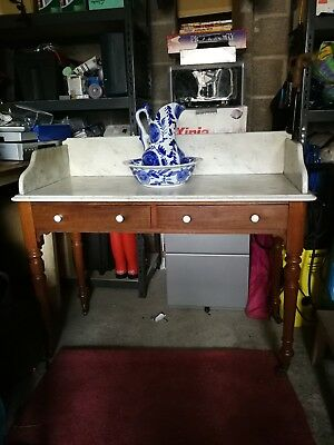 Vintage / Antique wash stand with marble top