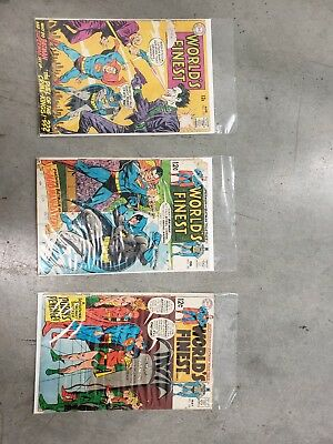 Worlds Finest Comics Lot no 177, 182, and 184