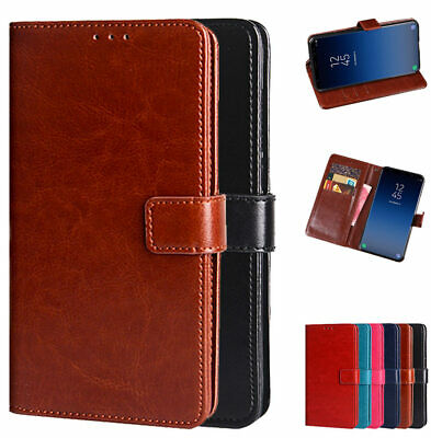 For Samsung Galaxy Note 9 S9 S10+ 8 PU Leather Wallet Card Flip Stand Cover Case