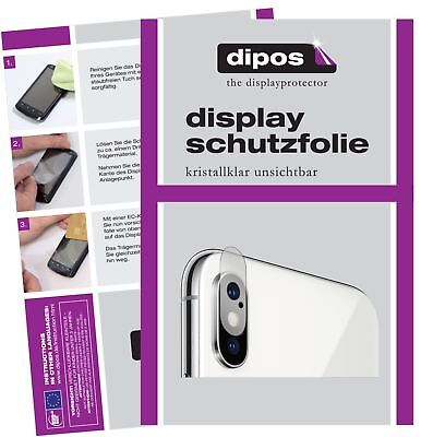 6x Apple iPhone XS Max Kamera Schutzfolie klar Displayschutzfolie Folie Display