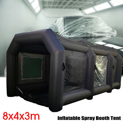 26x13x10Ft Inflatable Spray Booth Custom Tent Car Paint Booth Inflatable Black