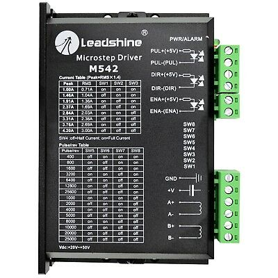 Leadshine Stepper Motor Driver 20-50 VDC with 1.0-4.2A to Nema 17,23 Motor M542