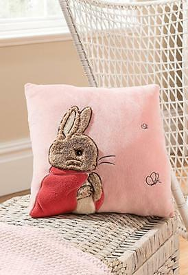 NEW The World Of Beatrix Potter Peter Rabbit Plush 'Flopsy' Pink Cushion