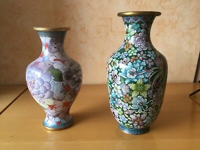 Chinese Cloisonne Vases 2