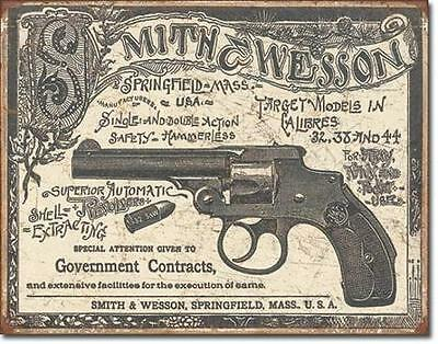 Smith & Wesson 1892 Entwürfe USA Vintage Style Metall Schild