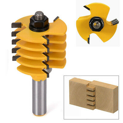 """Box Finger Joint Router Bit HQ 1/2"""" Shank 5 Blade 3 Flute Wood Cutter Tools"""