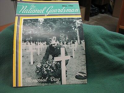 Vintage U.S.Military THE NATIONAL GUARDSMAN  Magazine  May, 1948  33 Pages NICE