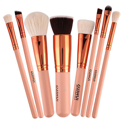 Pro 8X Makeup Brush Set Powder Foundation Ombretto Eyeliner Lip Brush T PQ