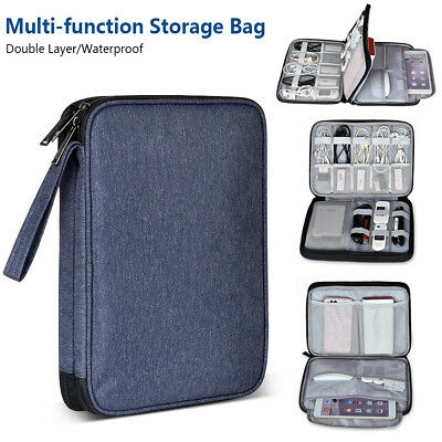 Electronic Accessories Organizer Travel Case Bag Portable Cable USB Drive Gadget