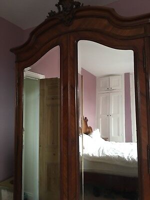 Antique French Louis IV Mirrored  Armoir Wardrobe