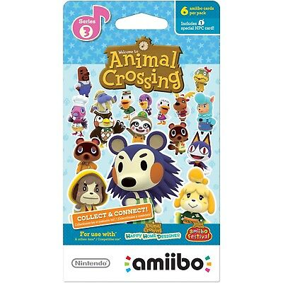 Animal Crossing New Leaf Welcome Amiibo Series 3 *Pal Eu Cards*