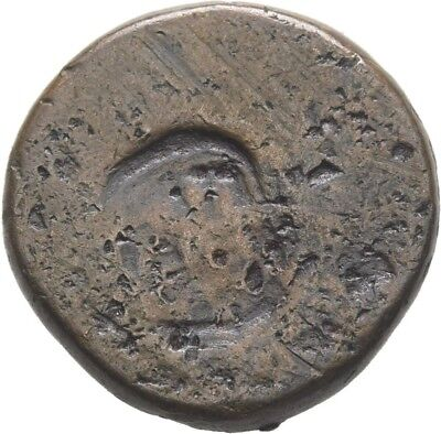 LANZ India Kashmir AD 883 1165 Aes Stater Goddess King Punchmark :MA1750