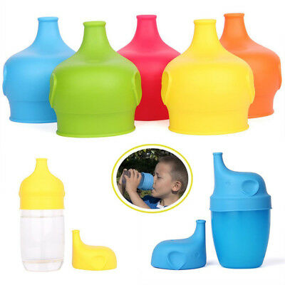 Toddlers Babies Silicone Sippy Lids For Any Cup Spill Proof Reusable Creative HE