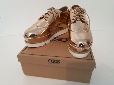 c0ab0749e80 ASOS NUDE DELPHINE Stripe Lace Up Sneakers Uk Size 8 - £16.99 ...