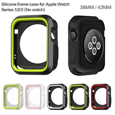 For Apple Watch Series 1 2 3 Silicone iWatch Protector Case Cover Screen 38/42mm