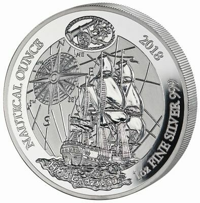 1 Unze Silber PP Proof Nautical Ounce HMS Endeavour Ruanda 2018 Silver Rwanda