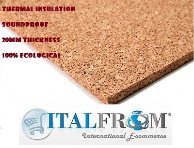 pack of insulation underlay underfloor cork board 100x50x3cm