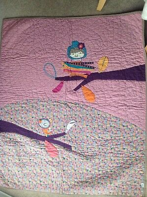 Lovely Mamas And Papas Timbuktales Cotbed Coverlet - Excellent Condition