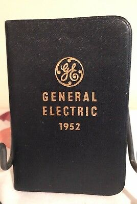 General Electric Diary Book 1952 Genuine Leather Bound Journal Almanac