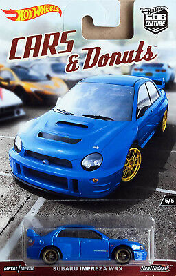 Subaru Impreza WRX Cars & Donuts Car Culture 5/5 1:64 Hot Wheels DWH89 DJF77