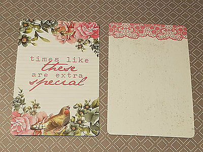 EXTRA SPECIAL Note Journal Card Inserts for Personal Planner or photo project