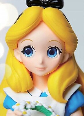 Banpresto Disney Characters Crystalux Alice in Wonderland Alice Figure JAPAN F/S