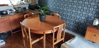 G Plan dining table and chairs