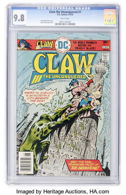 Claw the Unconquered #7 (May-Jun 1976, DC) CGC 9.8 WP