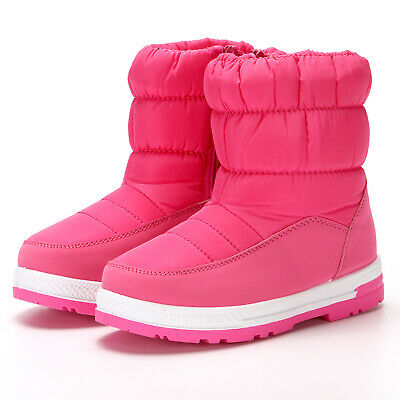 Children Snow Boots Girls Shoes Winter Boots Plush Kids Shoes Waterproof Sneake