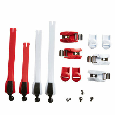NEW Fox Racing MX Boot Spares - Instinct Strap/Buckle/Pass Kit -  Red/White