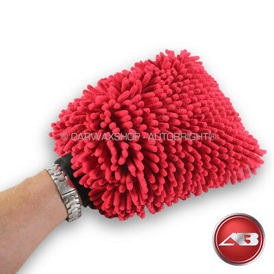 Car Wash Mitt Chenille Microfibre Noodle XL Double Sided Premium Autobright