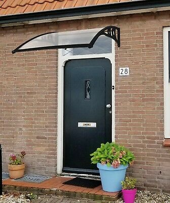 Front Door Canopy Black White Aluminium Durable Awning 5 Sizes Lacewing