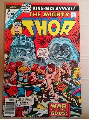 The Mighty Thor King Size Annual # 5 1976. VG.