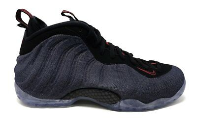 Nike Air Foamposite One Denim Mens 314996-404 Obsidian Black Red Shoes Size  9 127f2c3c8