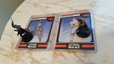 WotC Star Wars Miniatures Exar Kun and Ulic Qel-Droma VR Champions of the Force