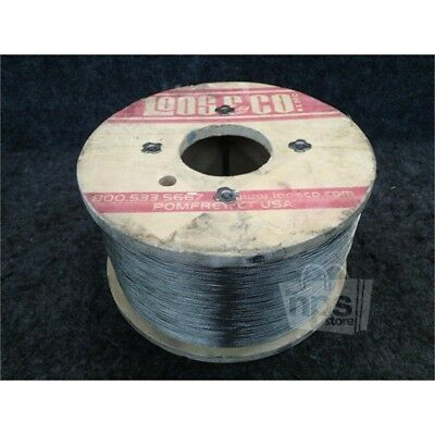 "Loos & Co. SC03617LD Stainless Steel Wire Rope, 1000ft Spool, 1x7STR, 0.036""*"
