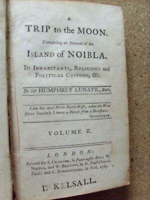A Trip To The Moon - The Island Of Noibla By Sir Humphrey Lunatic Vol Ii 1765